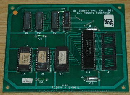 Ms. Pacman CPU daughterboard