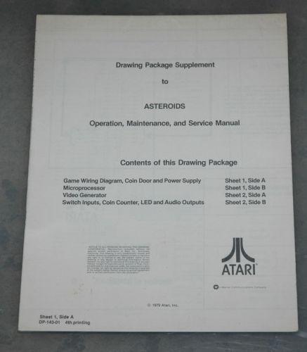 Asteroids Schematic sheet 1 6th