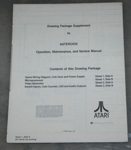 Asteroids Schematic sheet 2 3rd