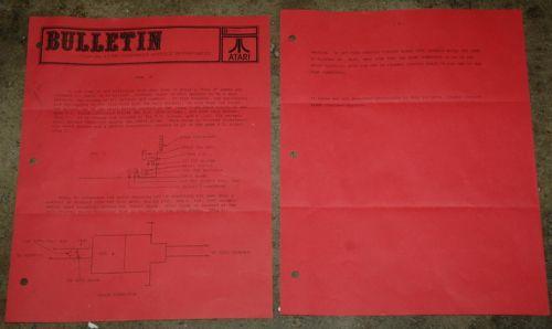 Atari Service Bulletin B-0025 Tank 8