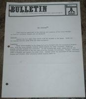 Atari Service Bulletin B-A006 Atarians